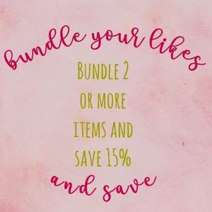 Bundle 2 items or more and same 15%